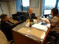 Deputado estadual José Nunes se reúne com Cibele Carvalho