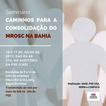Seminário Caminhos para a Consolidação do MROSC na Bahia