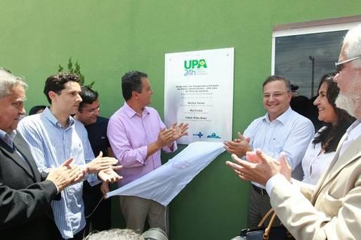 Governador inaugura UPA e sistema de abastecimento de �gua em Feira de Santana