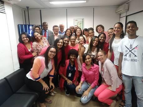 Funcion�rios da Serin comemoram o Outubro Rosa